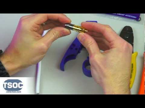 The TSOC Minute - How to Terminate an RG6 RCA-TYPE Coaxial Compression Connector