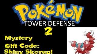 Pokemon Tower Defense 2 - Mystery Gift Code - Shiny Skorupi - V1.32 00 ...