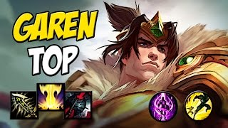 CAMPEÃO MAIS FORTE PRA SUBIR NO TOP - GAREN TOP GAMEPLAY - League of Legends