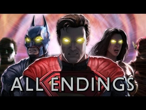 Injustice: Gods Among Us - All Character Endings TRUE-HD QUALITY