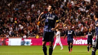 GOAL: Zlatan Ibrahimovic finds the back of the net on the assist from Cristian Pavon