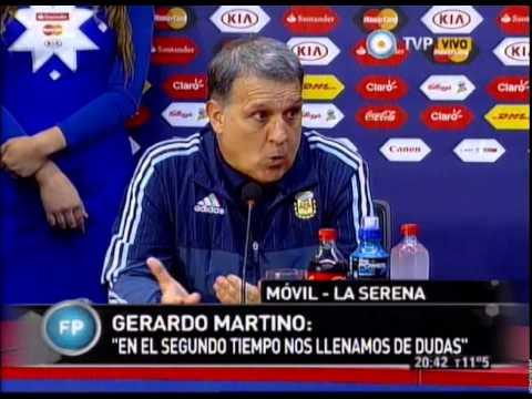 Debate y Conferencia de Prensa de Gerardo Martino - Argentina vs Paraguay 13-06-15
