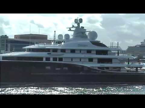 Megayacht Cakewalk Departing Port Everglades - 12/12/2011