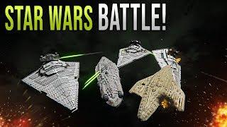 EMPIRE vs REBEL FLEET! - Star Wars EPIC Battle - Space Engineers!