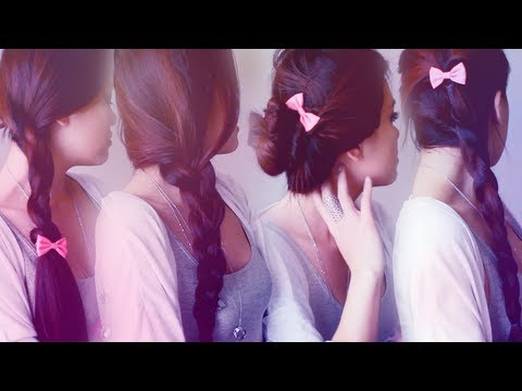 5 Easy Back to School Hairstyles in 5 Minutes ♡ No heat