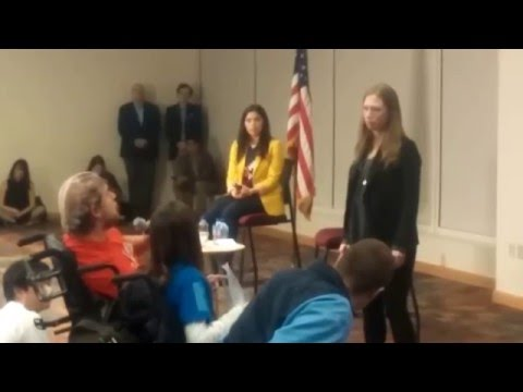 Chelsea Clinton at DENVER UNIVERSITY campaigning for Mom