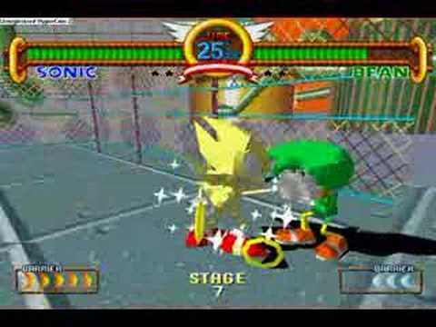 Sonic the Fighters: Super Sonic playthrough