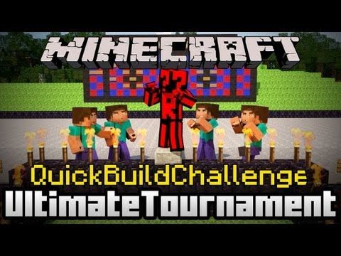 Minecraft Quick Build Challenge - Four Way Battle Final: Internet!