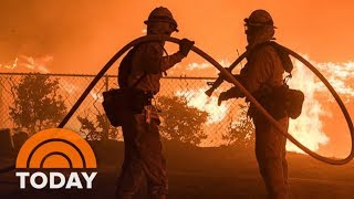 California Firefighters Spend Christmas Weekend Battling Thomas Fire | TODAY
