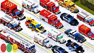 Xe Cứu Hỏa - Cứu Thương, Xe Cảnh Sát, Xe Cứu Hộ - Fire Truck - Police Car | TopKidsGames 277