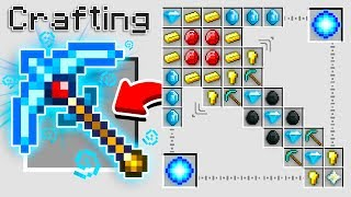 How to Craft a $1,000,000 Super Pickaxe *Overpowered* (Minecraft 1.13 Crafting Recipe)