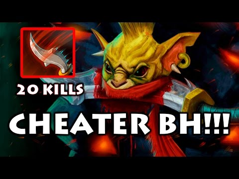 CHEATER In Dota 2 - Bounty Hunter using New HACKS !!!