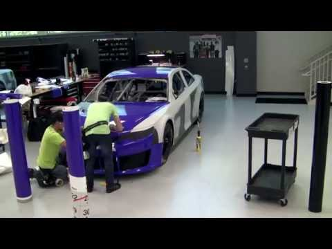 FedEx Delivery NASCAR Time Lapse Car Wrap