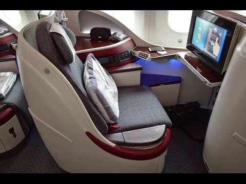 Qatar Airways Business Class on the Boeing 787 : Munich to Doha QR58