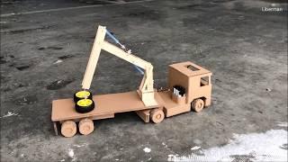 How to make Crane Truck. Cardboard toy DIY