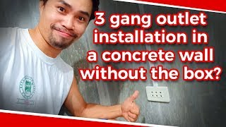 How to install 3 gang outlet.