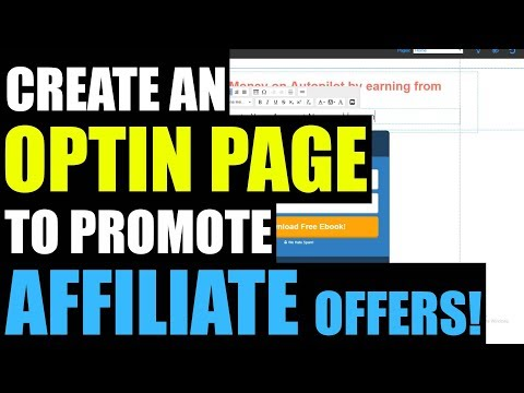 Affiliate Marketing in Hindi: How To Create an Optin Page to Promote Affiliate Offers!