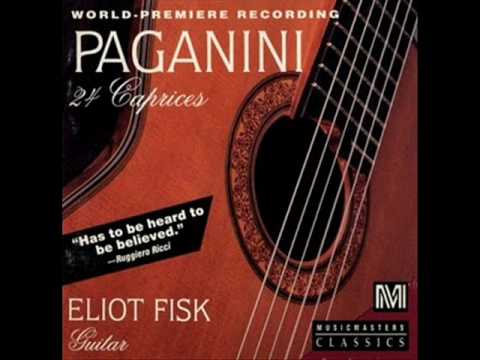 ELIOT FISK - PAGANINI 24 CAPRICES 6(OP.2)-13(OP.3)