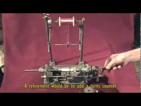 Gadgets and Gizmos - A vintage hand-operated small- coil winding machine (SOLD)