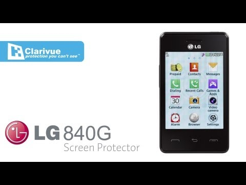Tracfone LG 840G Screen Protectors from Clarivue
