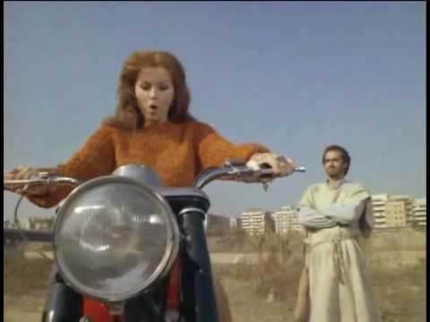 Ann-Margret riding Moto Guzzi