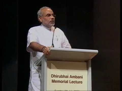 Narendra Modi, Dhirubhai Ambani Memorial Lecture - Reliance Group