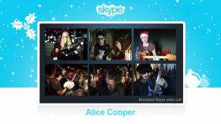 "Say ""Happy Holidays"" with Skype and Alice Cooper - We Wish You A Merry Christmas"
