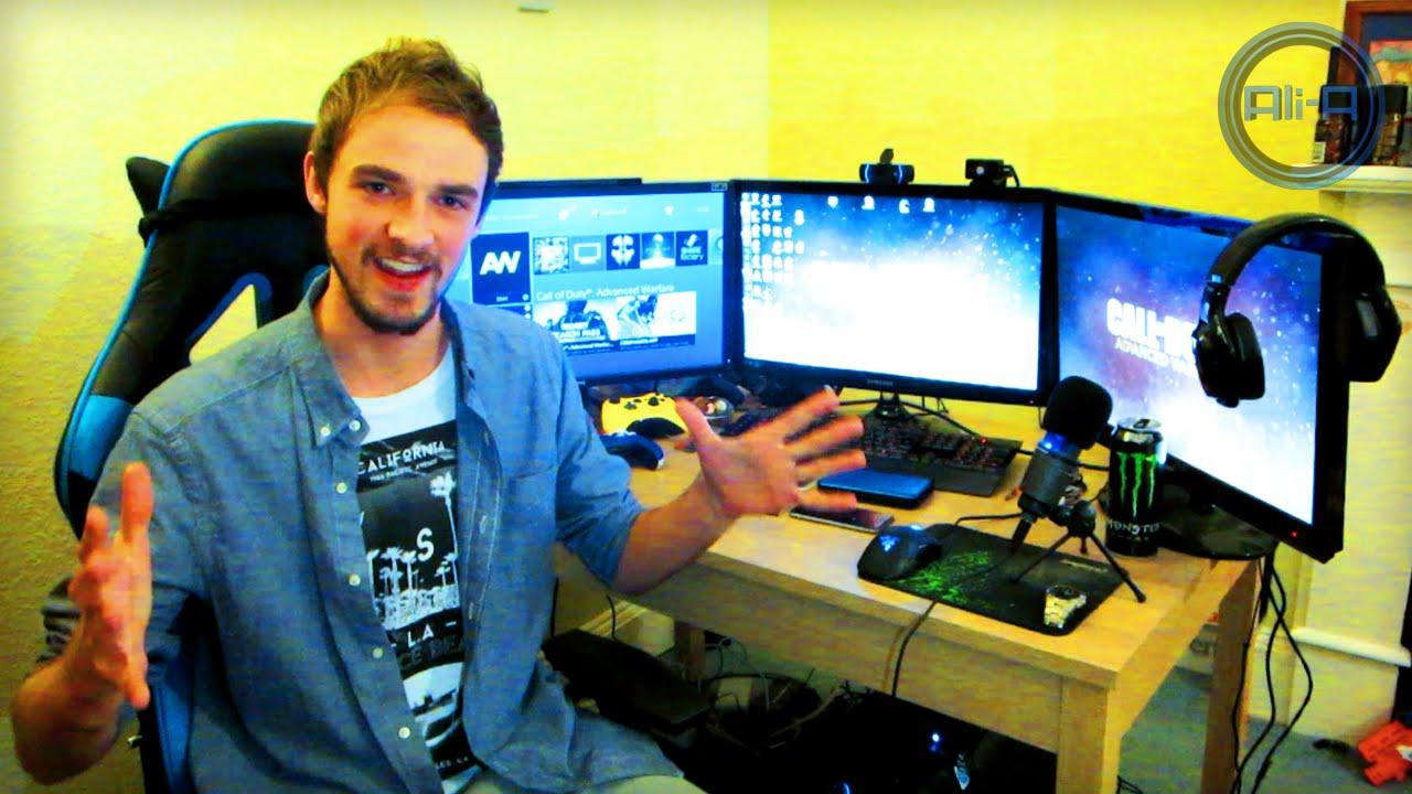 Ali A Gaming Setup 2014 Youtube