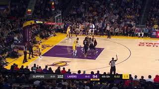 Kyle Kuzma Pushes LeBron James to Play Some Defense - Clippers vs Lakers | March 4, 2019