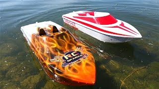 RC ADVENTURES - NEW CAPTAiNS! Thrasher Jet Boats on 5S Lipo - LET THEM TRY!