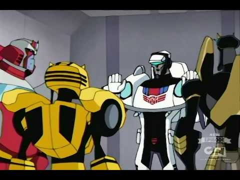 transformers animated jazz x prowl bumblebee x prowl