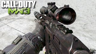 Call of Duty Modern Warfare 3 Sniper Mission Stealth Gameplay Veteran
