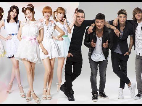 Russian vs Korean × music time