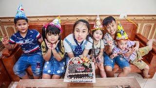 Kids Go To School | Day Birthday Of Chuns Children DIY Make a Birthday Cake SOCOLA