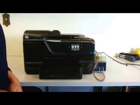 COMO USAR A IMPRESSORA HP OfficeJet Pro 8100/8600/251/276 - com Bulk Ink Ecoplus Parte 1