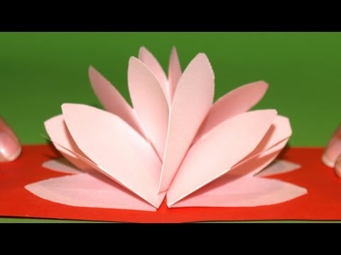 Tarjeta Pop-Up Flor de Loto - DIY - Lotus Flower Pop-Up Card