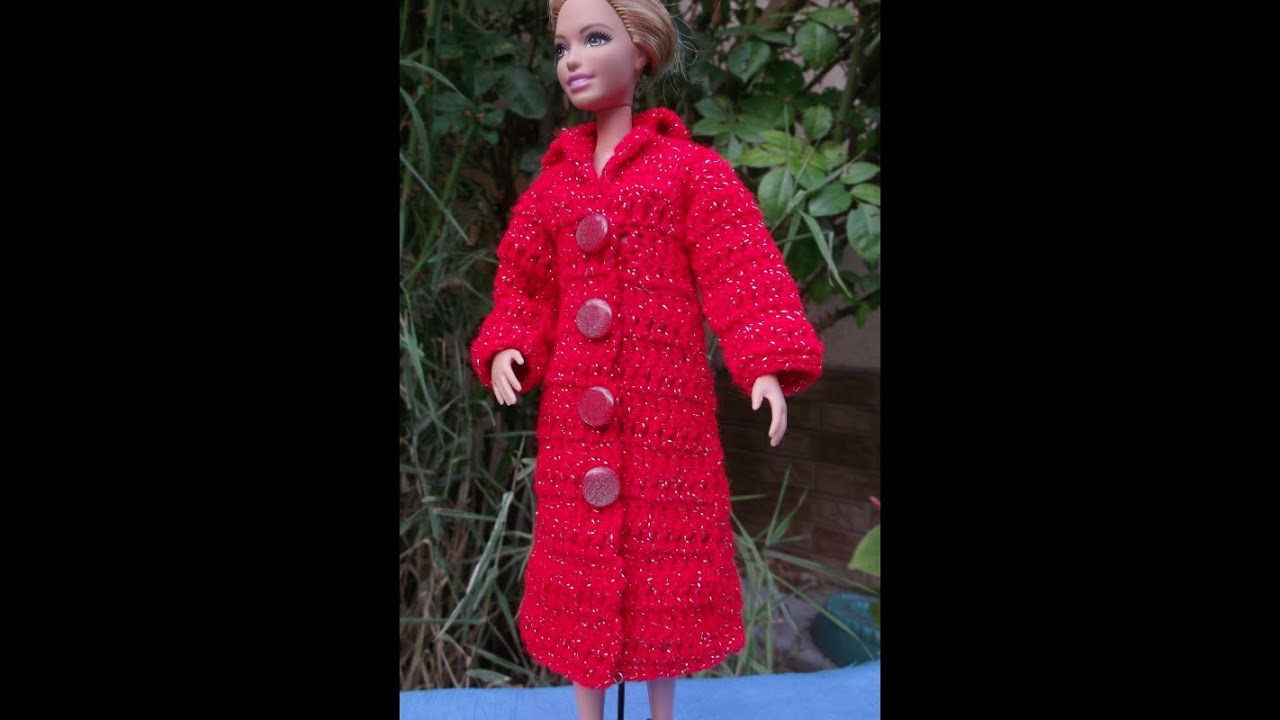 Вязание крючком пальто для барби