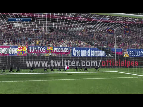PES 2015 demo code - Messi free-kick