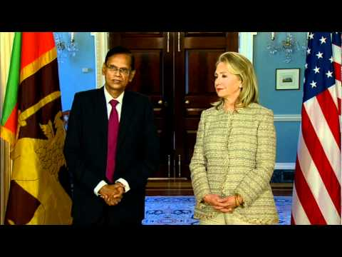 Secretary Clinton Delivers Remarks With Sri Lankan Foreign Minister Peiris