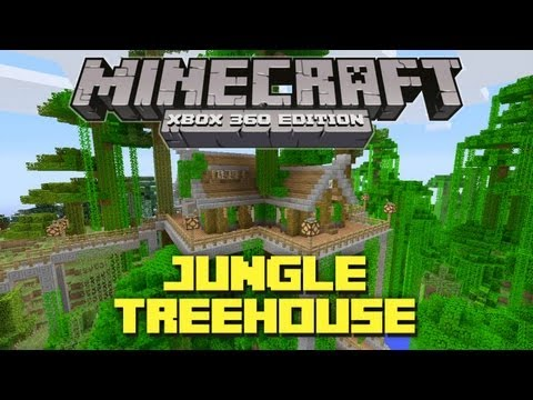 Minecraft Xbox 360: Cool Jungle Treehouse! (TU12 Creation)