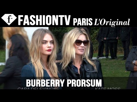 Burberry Arrivals ft Cara Delevingne & Kate Moss | London Fashion Week Spring 2015 | FashionTV