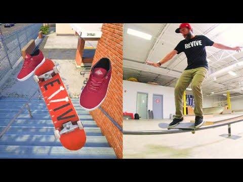 REVIVE Skateboards Video Game Vs Real Skateboarding!