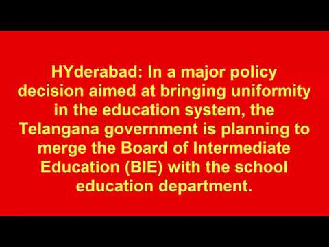 Telangana Board of Intermediate Education, Telangana video