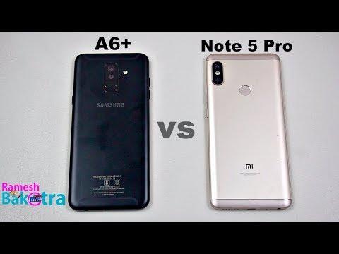 Samsung Galaxy A6 Plus vs Redmi Note 5 Pro SpeedTest Camera Comparison