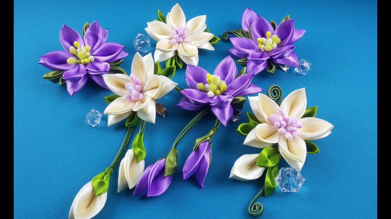 Идеи цветы из лент своими руками
