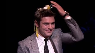 Zac Efron Plays Egg Russian Roulette & Talks Shark Encounter on Jimmy Fallon