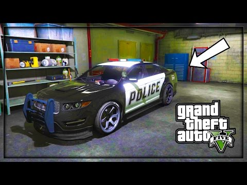 "GTA 5 - ""STORE POLICE VEHICLES GLITCH"" 1.36 (How to customize Police Cars) SP"