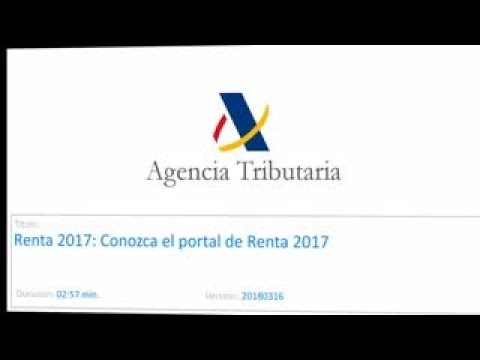 video de la Agencia Tributaria portal Renta 2017