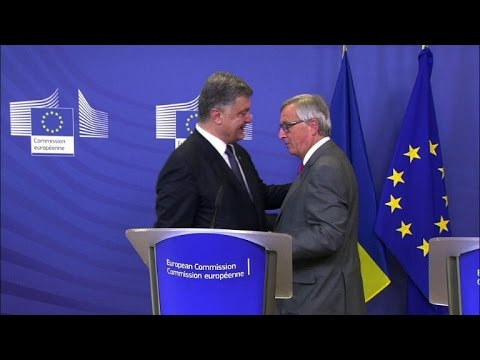 Poroshenko in Brussels for Ukraine ceasefire talks
