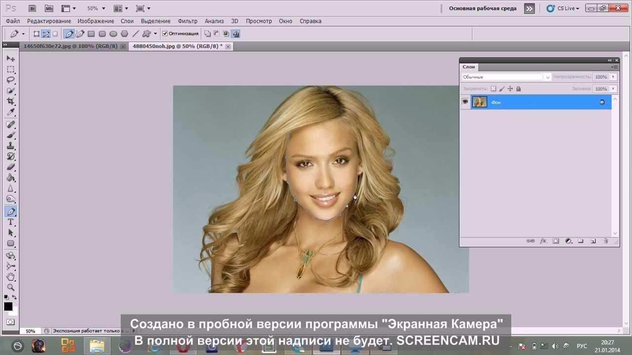 урок фотошопа подбор прически
